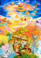 0braz kreslený pastelkami: O čem stromy sní