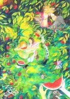 0braz kreslený pastelkami: Melounové léto
