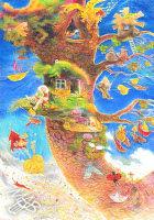 0braz kreslený pastelkami: Barvy listí