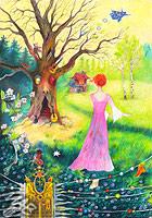 Obrázek kreslený pastelkou: Hudba