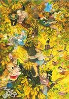 0braz kreslený pastelkami: Loupežnický strom