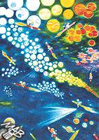 Kresba, pastelky na papíře: Ze života hvězd