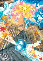 0braz kreslený pastelkami: Gotika jest kámen a vítr